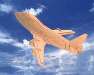 Dřevěné skládačky 3D puzzle letadla - Boeing 747 P039