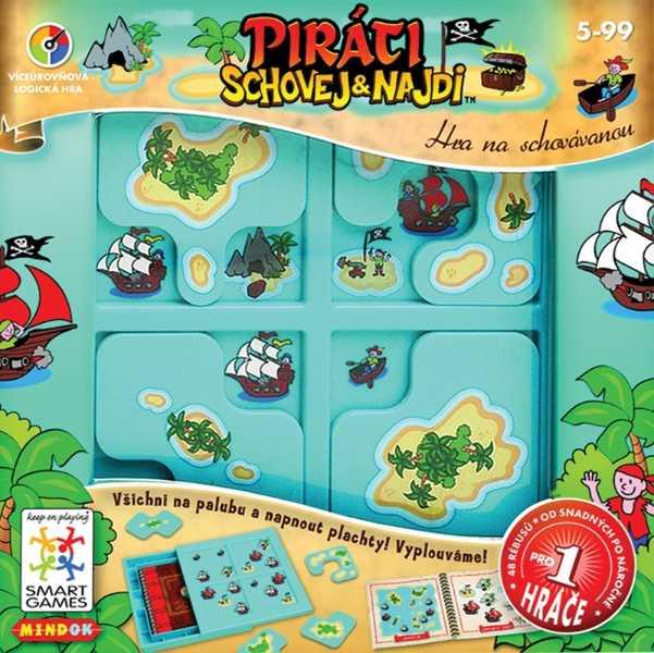 Dětské hlavolamové smart hry - Piráti schovej a najdi
