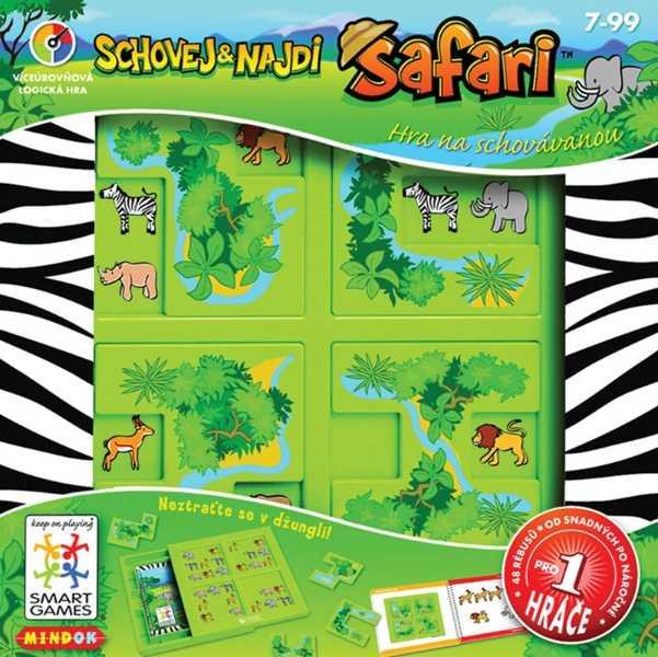 Dětské hlavolamové smart hry - Safari schovej a najdi