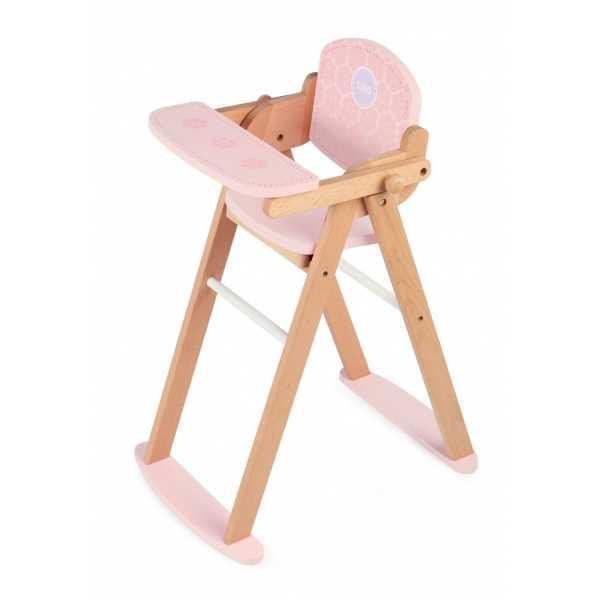 Tidlo dřevěná židlička na krmení panenek