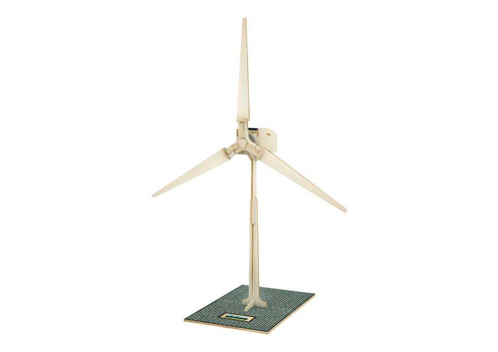 RoboTime - Dřevěná stavebnice - solární větrná elektrárna