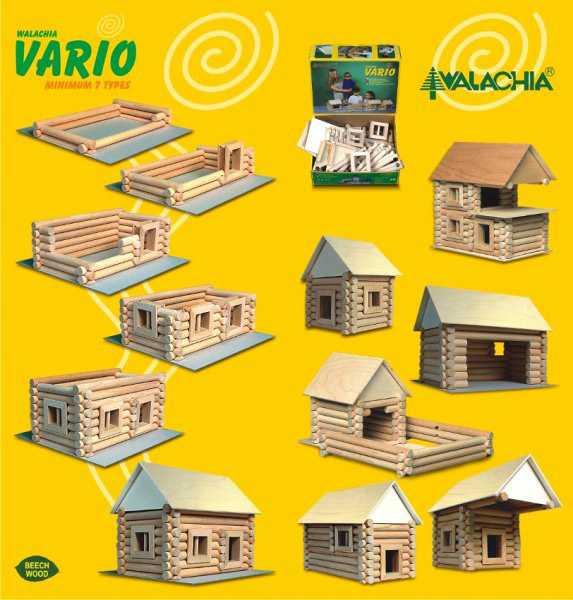 Dřevěná stavebnice Walachia Vario 72 dílů