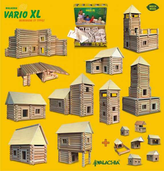 Dřevěná stavebnice Walachia Vario XL 184 dílů