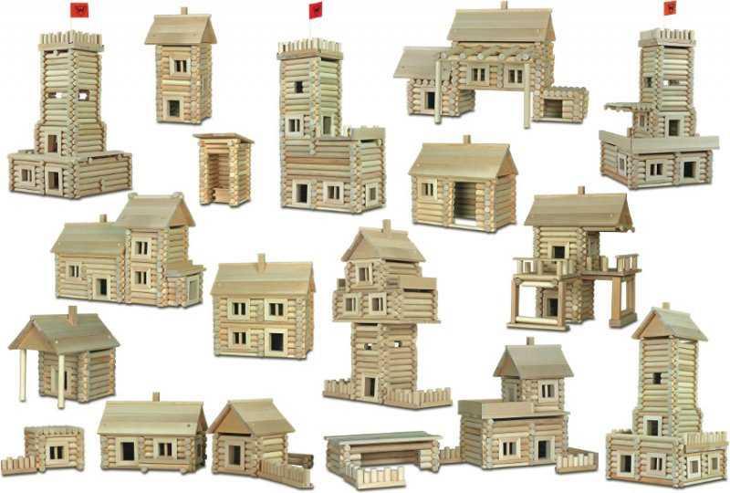 Dřevěná stavebnice Walachia Vario Massive - 209 dílů