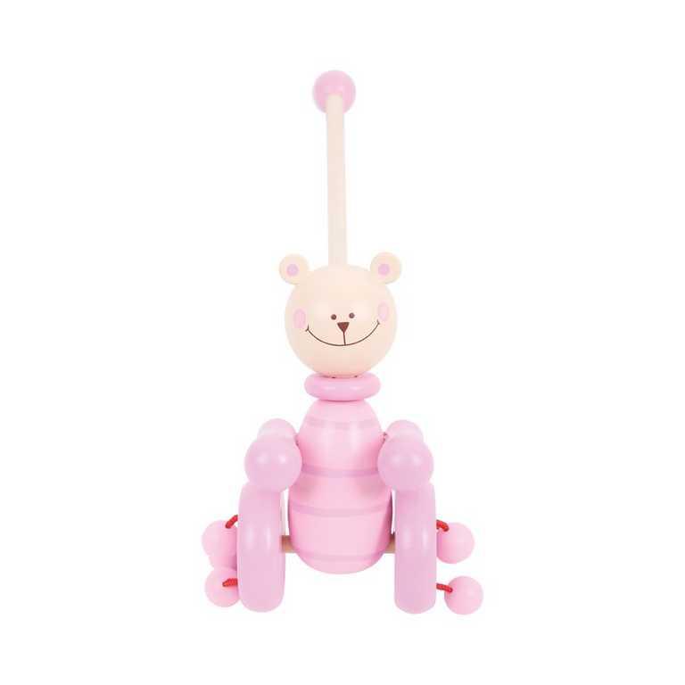 Tahací hračky - Jezdík - Růžový medvěd