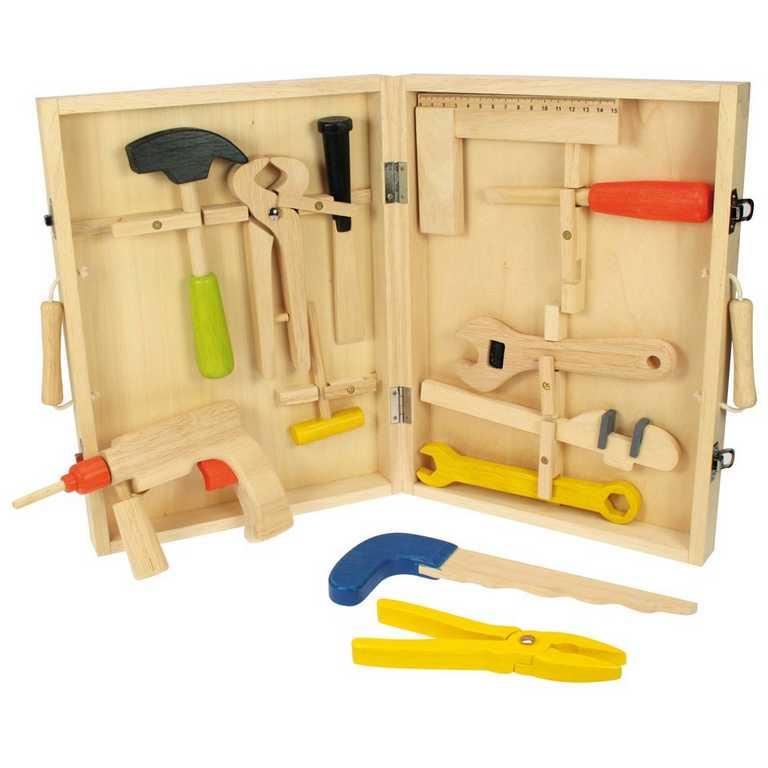 Bigjigs Toys dřevěné hračky - Kufřík s nářadím