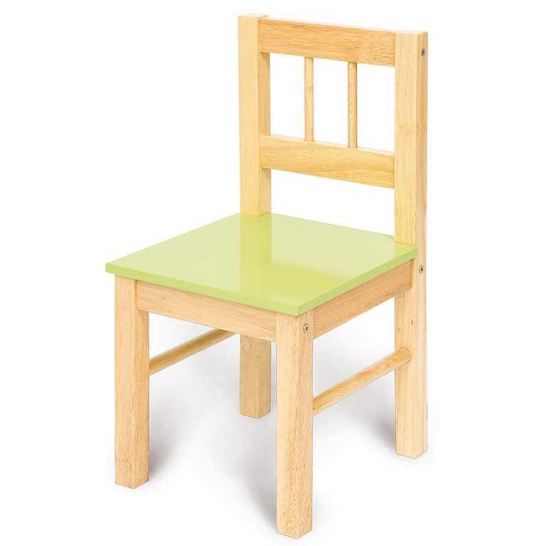 Bigjigs dětská dřevěná židle - zelená
