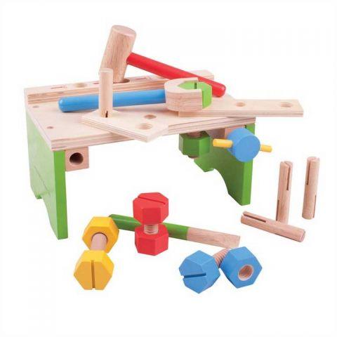 Bigjigs Toys - Ponk s nářadím a zatloukačka
