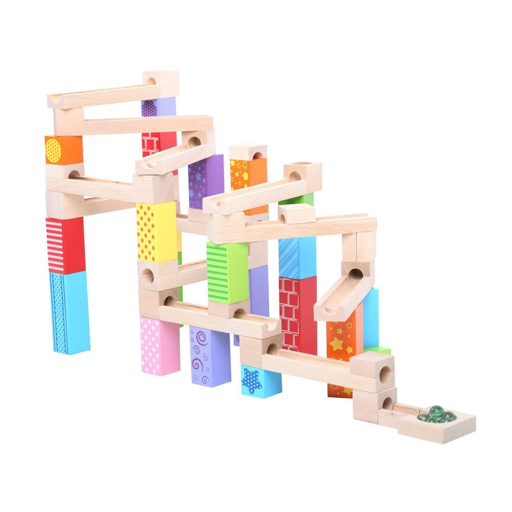 Bigjigs Toys dřevěná kuličková dráha