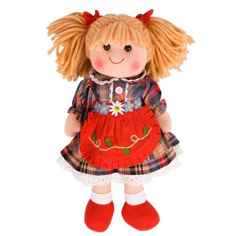 Bigjigs Toys látková panenka Mandie 35 cm