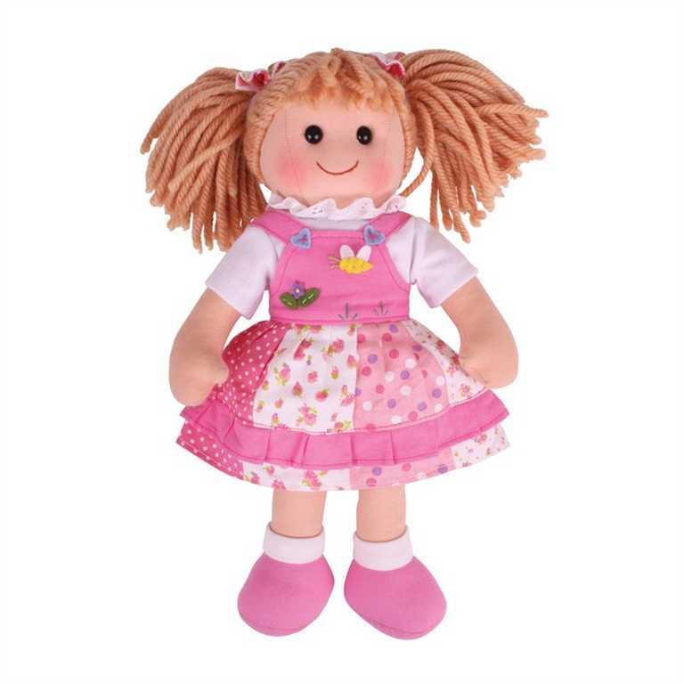 Bigjigs Toys látková panenka Hayley 35 cm