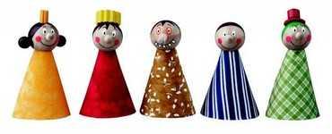 Dřevěné hračky - Prstoví maňásci - pohádkové postavičky