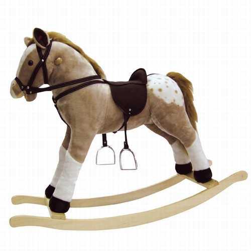 Dřevěné hračky - Houpací kůň plyšový Max