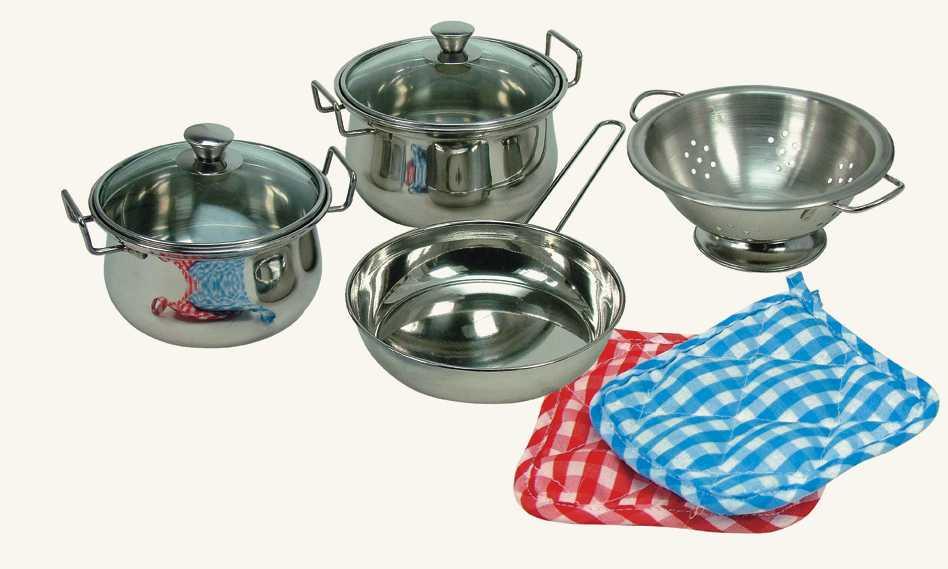 Dětské nádobíčko - Sada nerezového nádobí