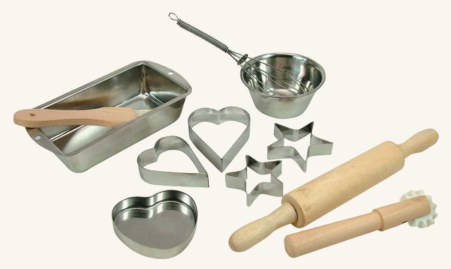 Dřevěné hračky - dětské nádobíčko - Sada na pečení, 11 ks