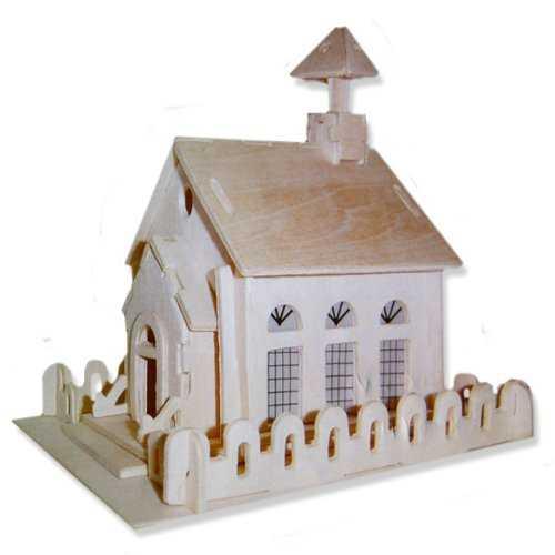 Dřevěné skládačky 3D puzzle slavné budovy - Kostel