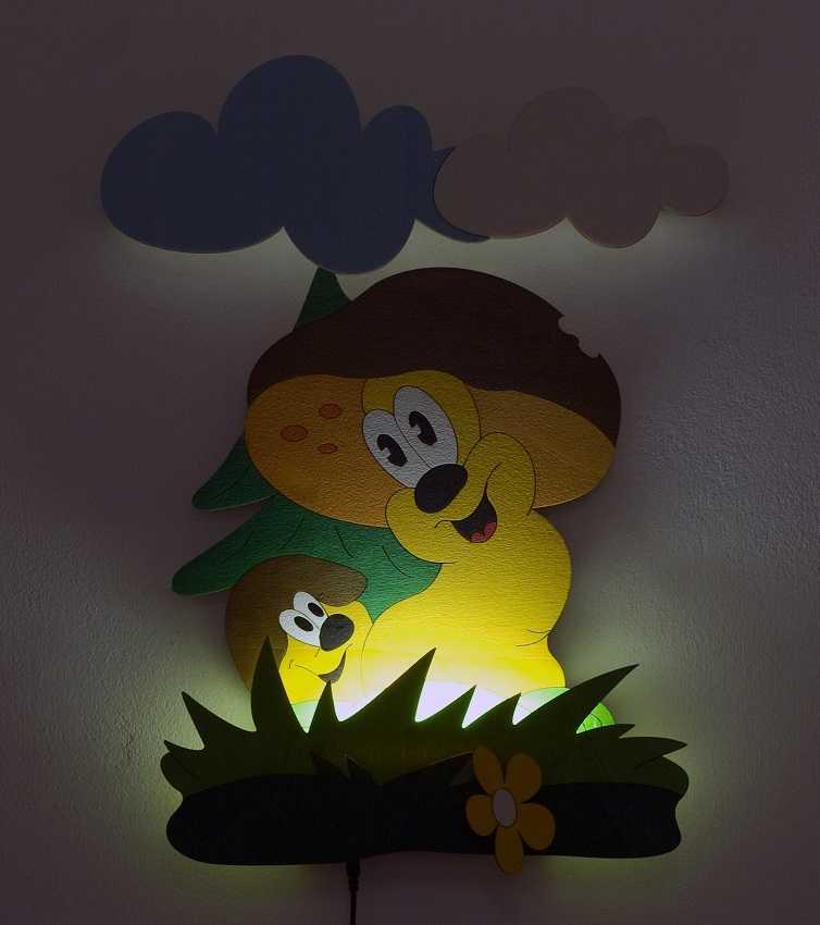 Dětská LED lampička - Hříbci