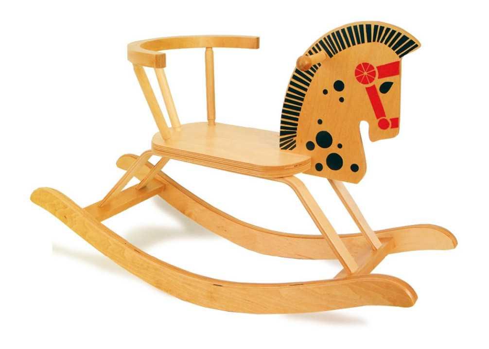Dřevěné hračky - Dřevěný houpací kůň