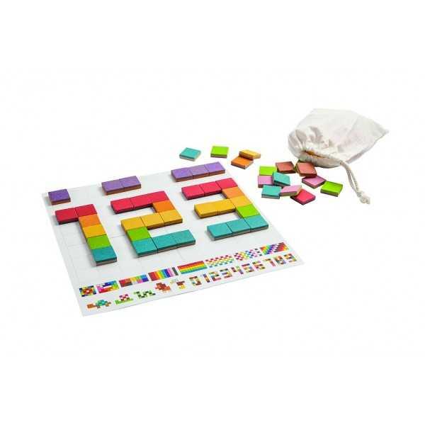 Plantoys dřevěná kreativní hračka - Mozaika