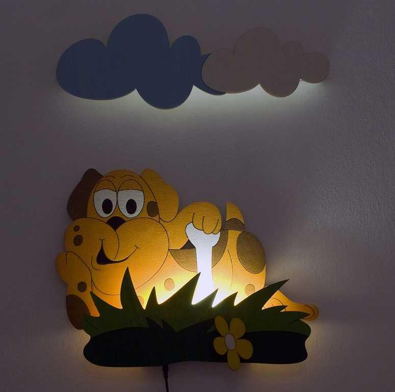 Dětská LED lampička - Pes