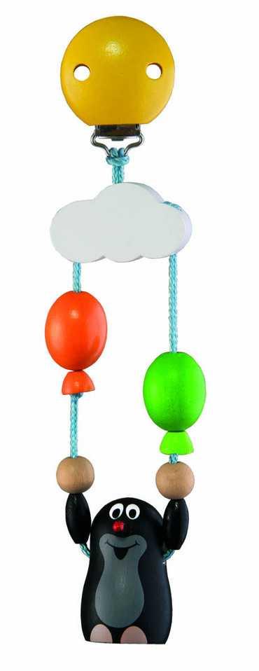 Dřevěné hračky - Závěs na kočárek Krtek s balónky